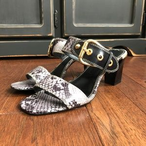 Franco Sarto Faux Leather Snakeskin Low Heels